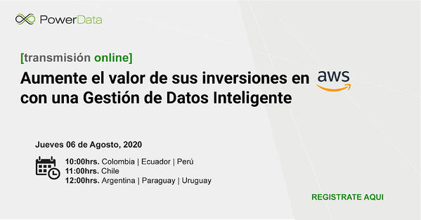 Registro Amazon Cloud Data Platform