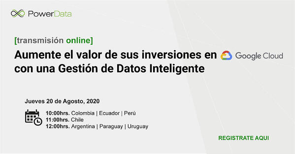Registro Google Cloud Data Platform