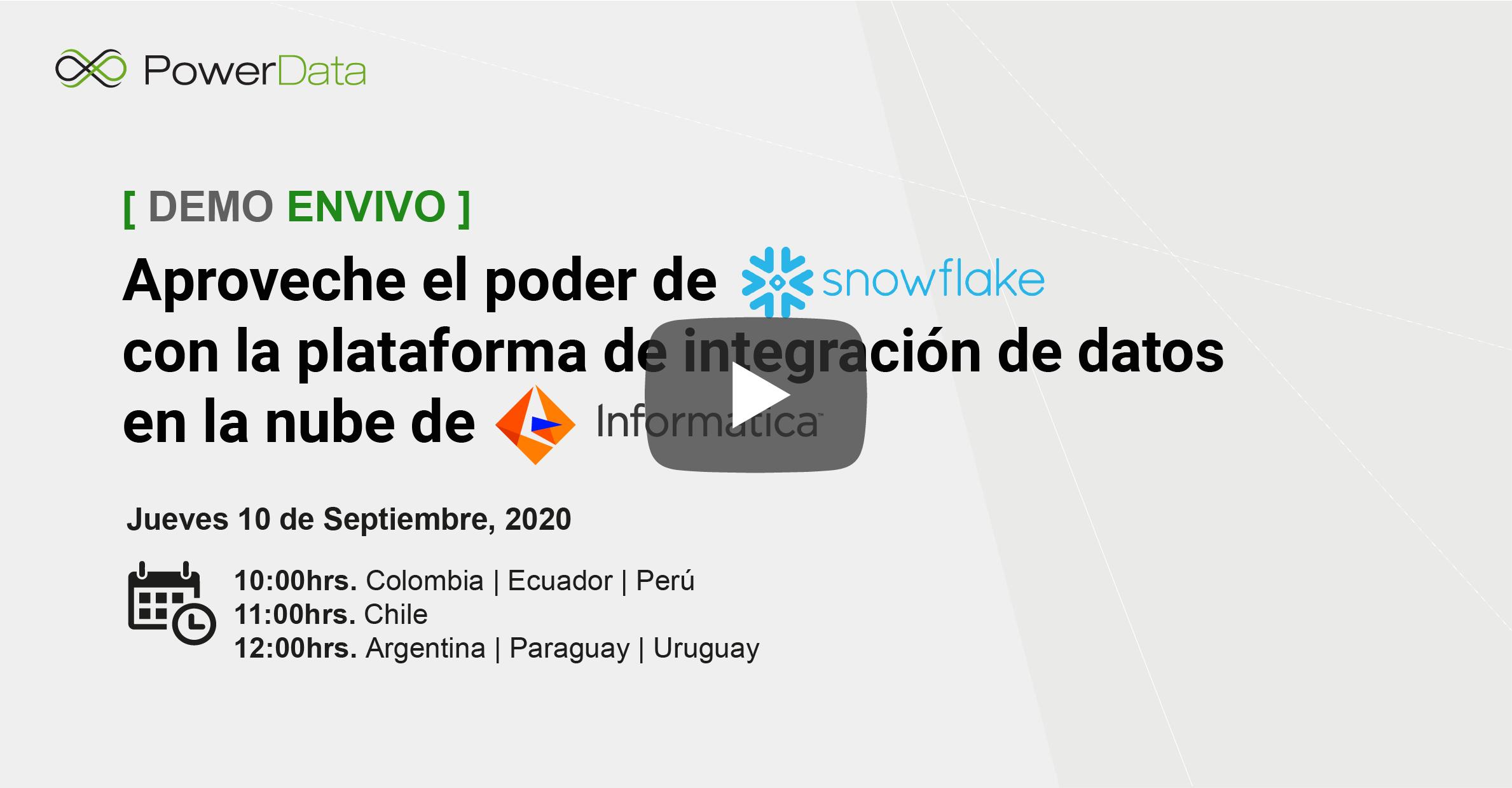 Video Demo Snowflake-Informatica